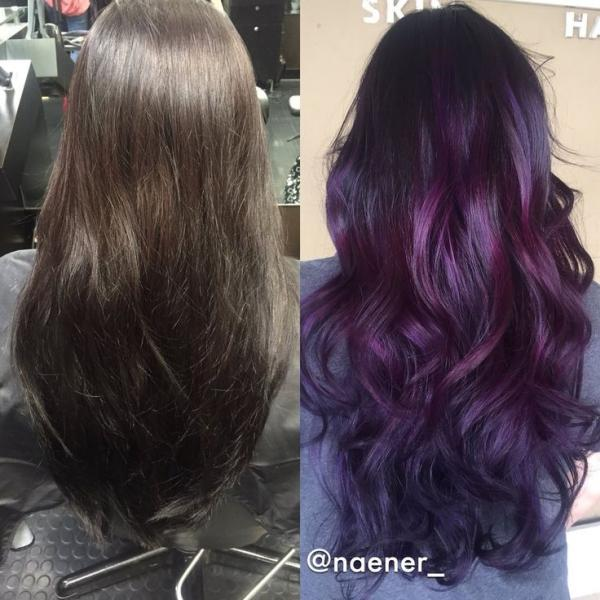how to dye your hair purple without 4 steps